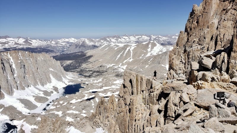 USA Hiking Bucket List - View from Trail Crest on Mount Whitney Trail