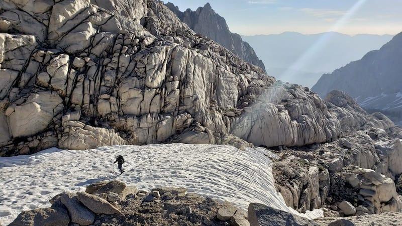 Hiker on Mount Whitney Trail - USA Hiking Bucket List