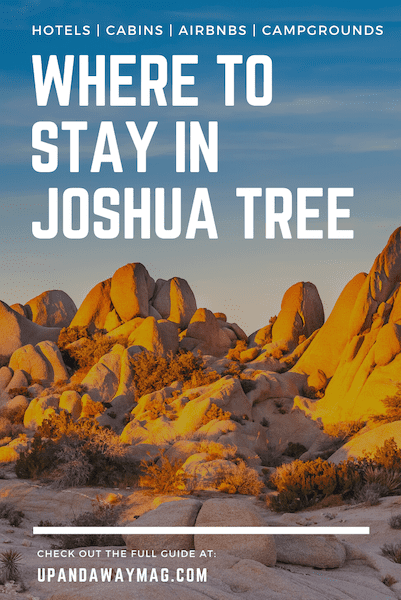 where to stay in Joshua Tree