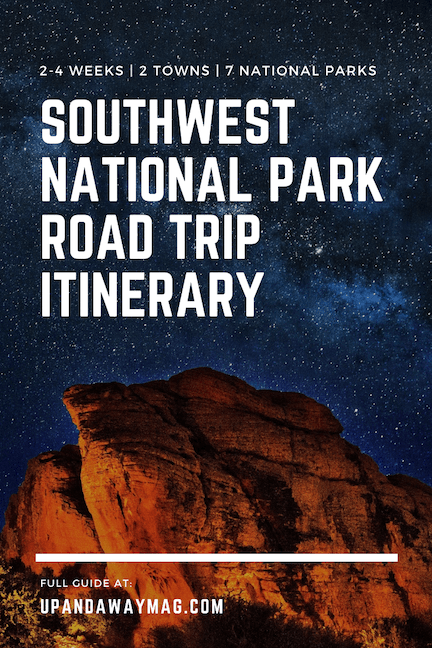 Southwest National Parks Road Trip Itinerary Pin