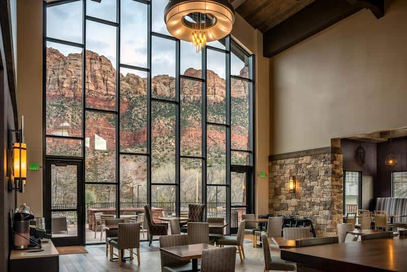 The dining area at SpringHill Suites in Springdale - part of a Where to Stay in Zion National Park Guide