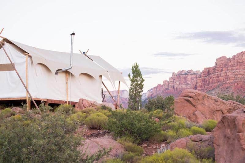 Under Canvas Zion Glamping Tent - part of a Where to Stay in Zion National Park Guide
