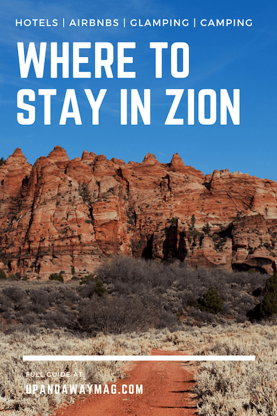 Pin for Where to Stay in Zion National Park guide