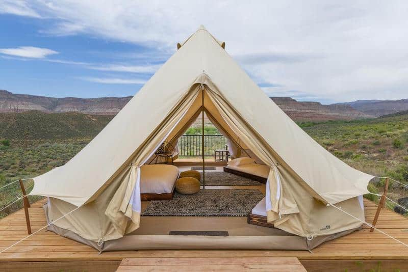 Zion Wildflower Glamping Tent - part of a Where to Stay in Zion National Park Guide