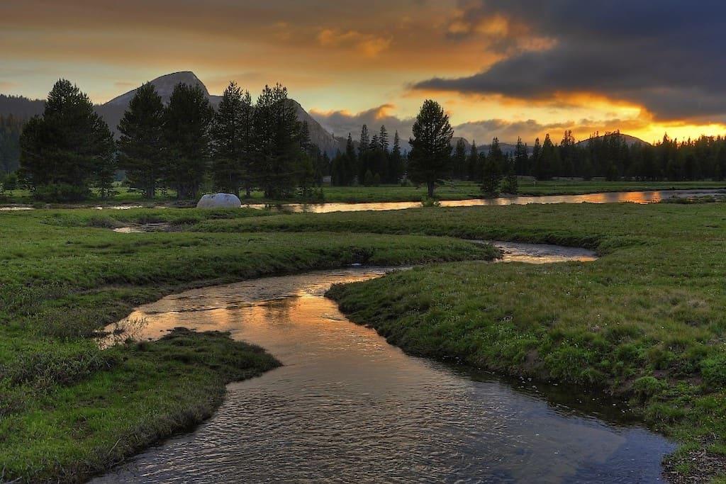 Tuolumne Meadows Campground in Yosemite