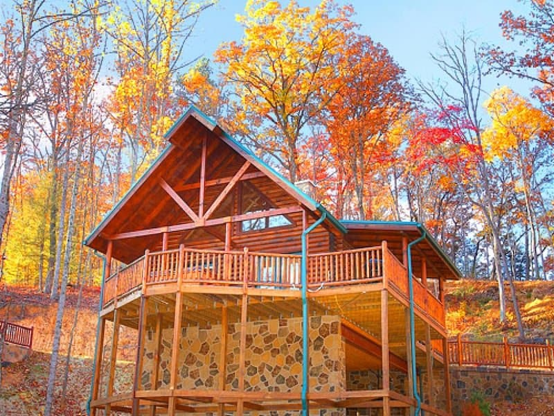 An image taken of Rascals Retreat Holiday Home in Gatlinburg TN - a pet-friendly cabin sleeping up to 6.
