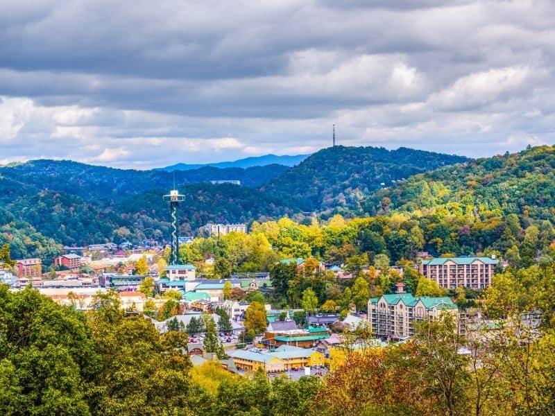 Gatlinburg, Tennessee Skyline, Great Smoky Mountains USA